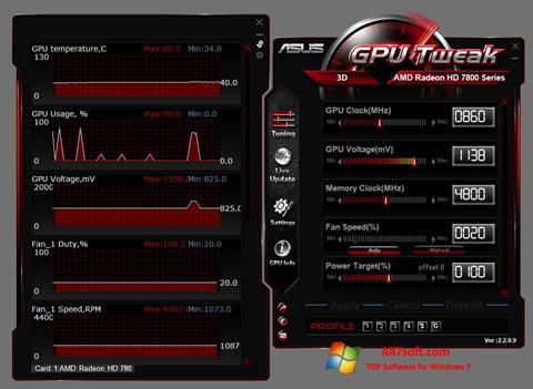 스크린 샷 ASUS GPU Tweak Windows 7