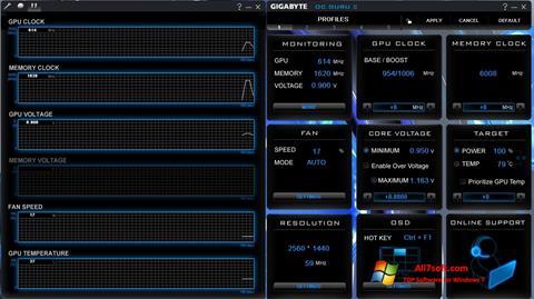 스크린 샷 GIGABYTE OC Guru Windows 7