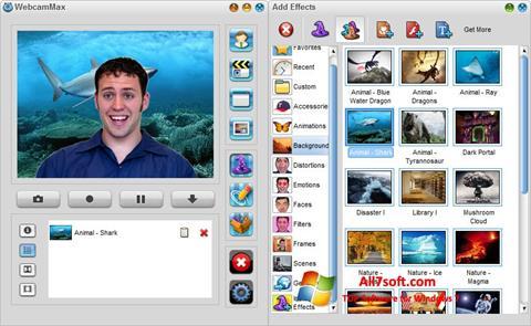 스크린 샷 WebcamMax Windows 7