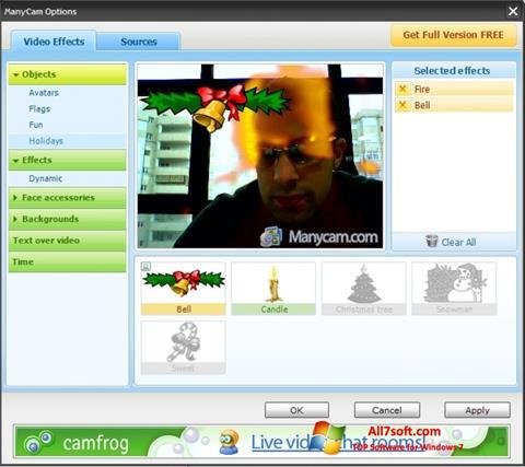 스크린 샷 ManyCam Windows 7