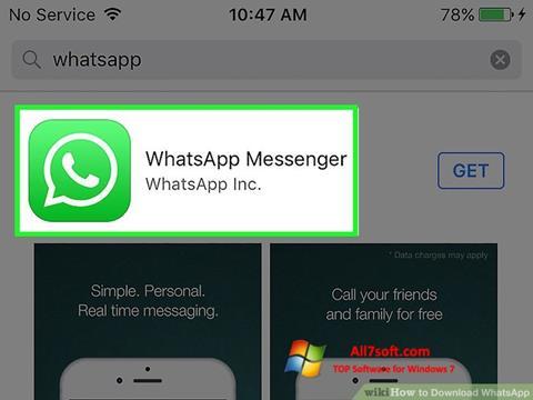 스크린 샷 WhatsApp Windows 7