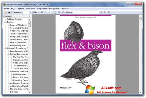 스크린 샷 Sumatra PDF Windows 7