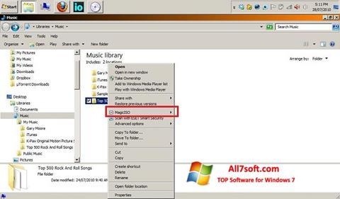 스크린 샷 MagicISO Windows 7