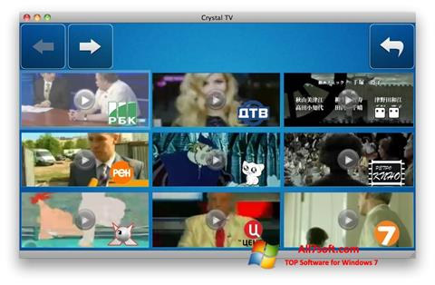 스크린 샷 Crystal TV Windows 7
