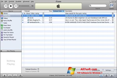 스크린 샷 iTunes Windows 7