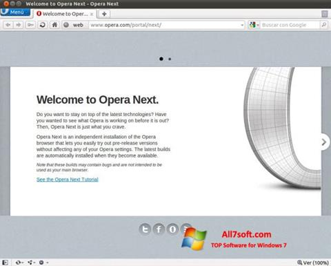 스크린 샷 Opera Developer Windows 7
