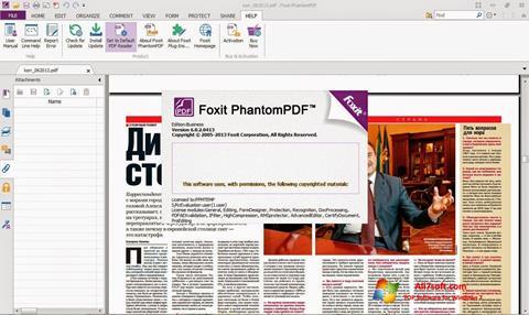 스크린 샷 Foxit Phantom Windows 7