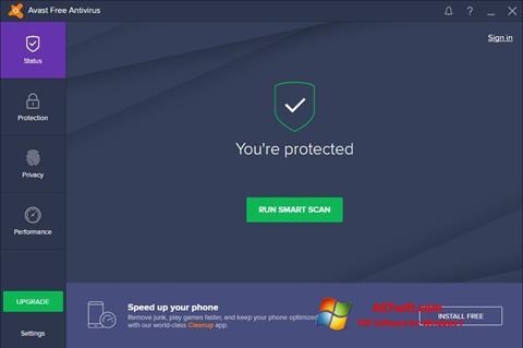 스크린 샷 Avast Free Antivirus Windows 7