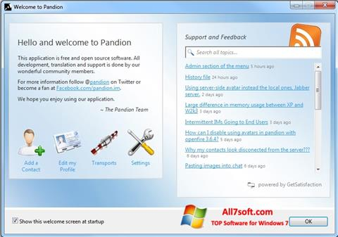 스크린 샷 Pandion Windows 7