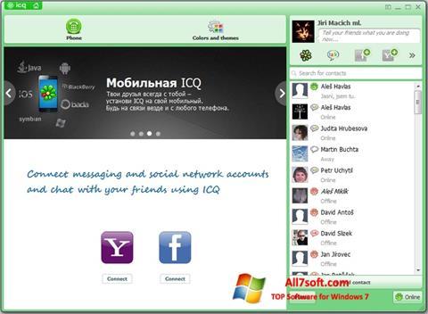 스크린 샷 ICQ Windows 7