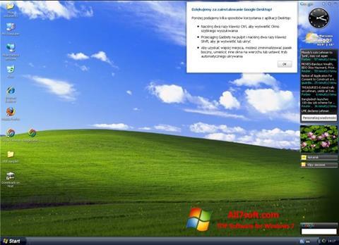 스크린 샷 Google Desktop Windows 7
