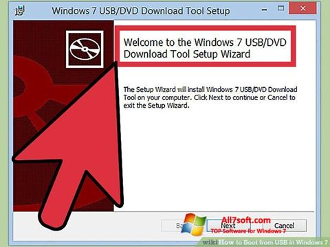 스크린 샷 Windows 7 USB DVD Download Tool Windows 7