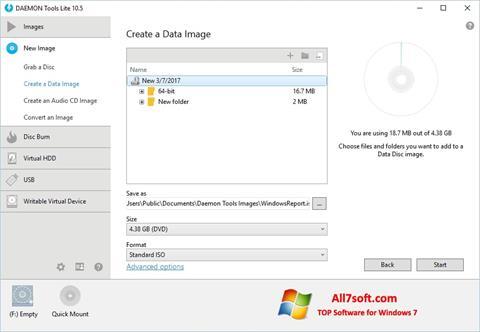 스크린 샷 DAEMON Tools Lite Windows 7