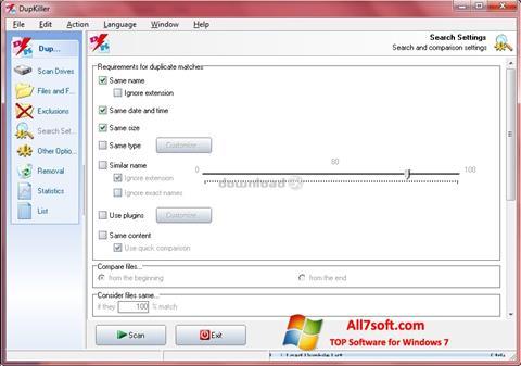 스크린 샷 DupKiller Windows 7