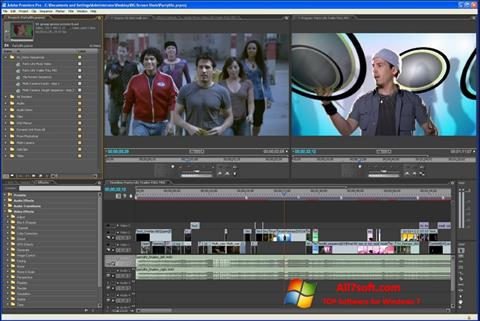 스크린 샷 Adobe Premiere Pro Windows 7