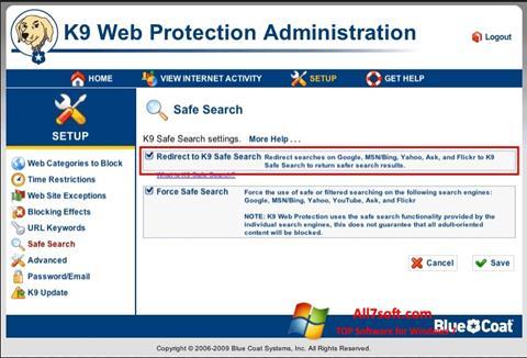 스크린 샷 K9 Web Protection Windows 7