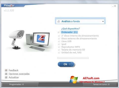스크린 샷 PrivaZer Windows 7