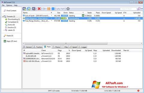 스크린 샷 BitTorrent Windows 7