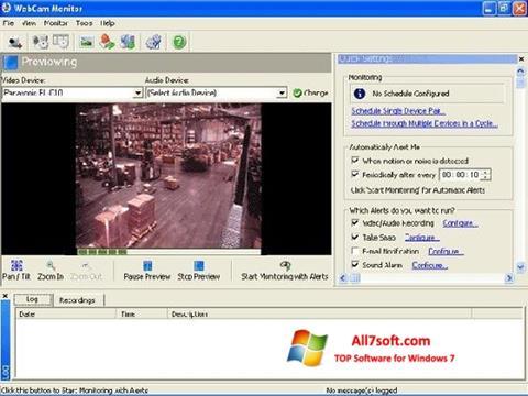 스크린 샷 WebCam Monitor Windows 7