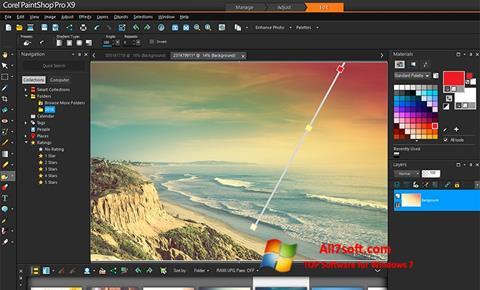 스크린 샷 PaintShop Pro Windows 7