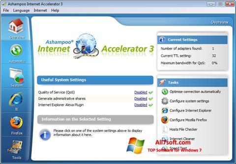 스크린 샷 Ashampoo Internet Accelerator Windows 7