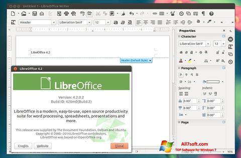 스크린 샷 LibreOffice Windows 7