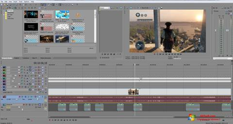 스크린 샷 Sony Vegas Pro Windows 7