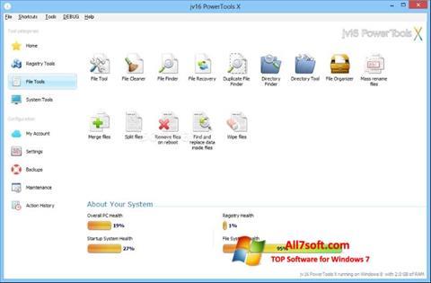 스크린 샷 jv16 PowerTools Windows 7