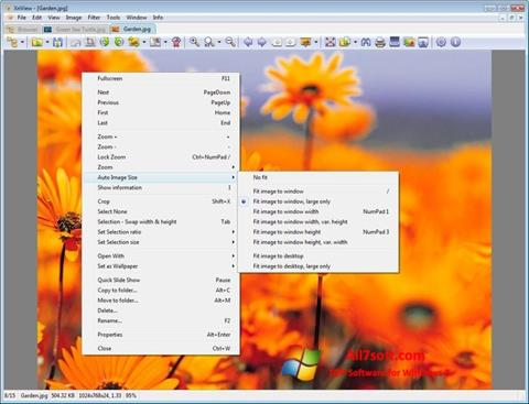 스크린 샷 XnView Windows 7