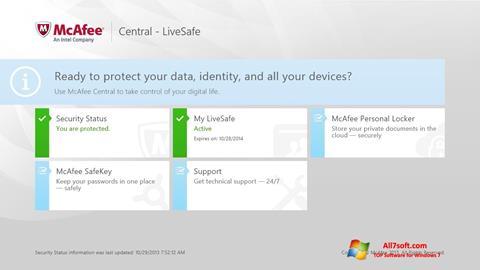 스크린 샷 McAfee LiveSafe Windows 7