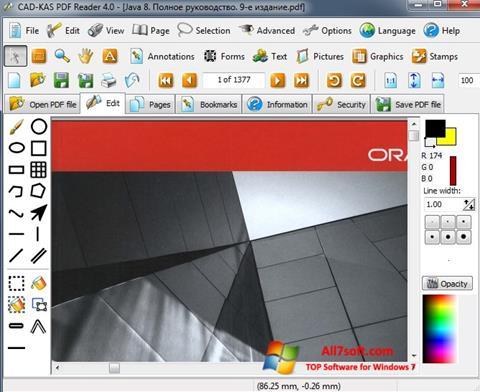 스크린 샷 PDF Reader Windows 7