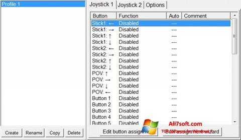 스크린 샷 JoyToKey Windows 7