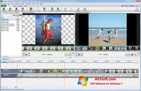 스크린 샷 VideoPad Video Editor Windows 7