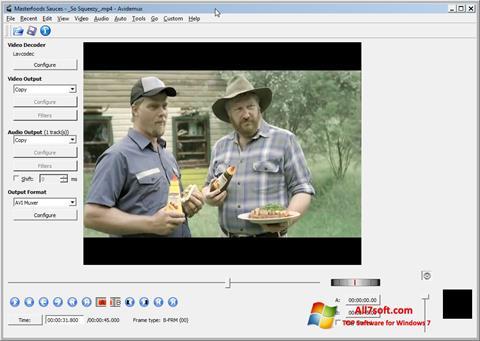 스크린 샷 Avidemux Windows 7