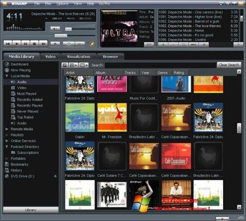 스크린 샷 Winamp Windows 7
