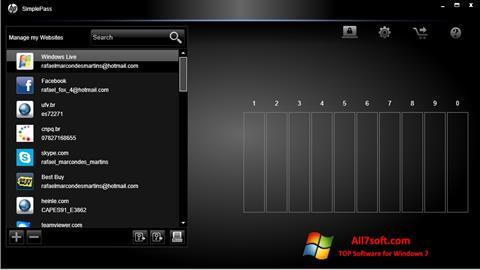 스크린 샷 HP SimplePass Windows 7