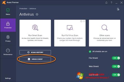 스크린 샷 Avast Windows 7