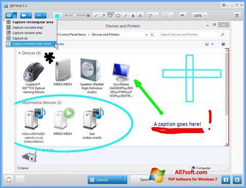 스크린 샷 QIP Windows 7