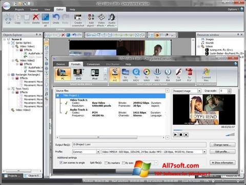 스크린 샷 Free Video Editor Windows 7