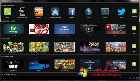 스크린 샷 BlueStacks Windows 7