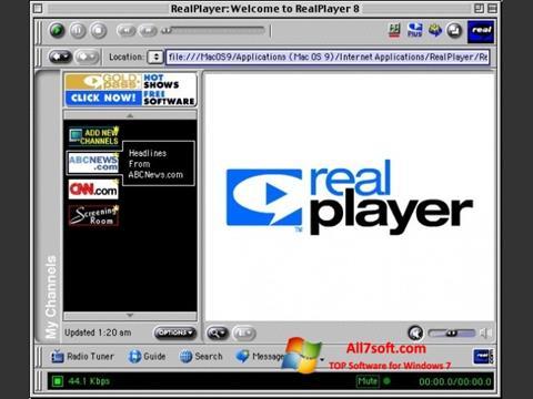 스크린 샷 RealPlayer Windows 7