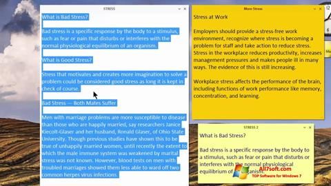 스크린 샷 Simple Sticky Notes Windows 7