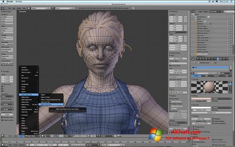 스크린 샷 Blender Windows 7