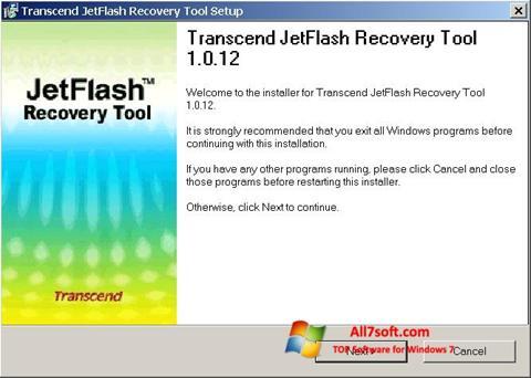 스크린 샷 JetFlash Recovery Tool Windows 7
