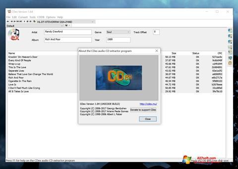 스크린 샷 CDex Windows 7