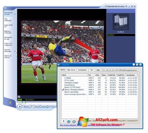 스크린 샷 SopCast Windows 7