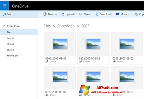 스크린 샷 OneDrive Windows 7