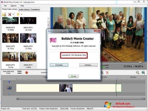 스크린 샷 Bolide Movie Creator Windows 7