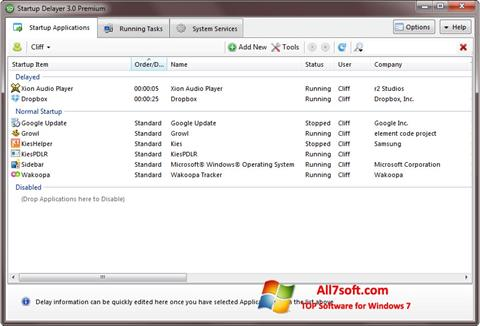 스크린 샷 Startup Delayer Windows 7