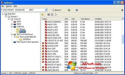 스크린 샷 IsoBuster Windows 7